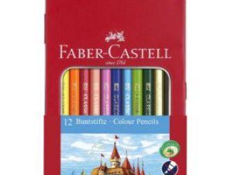 Llapis de colors caixa metàl·lica Faber Castell Castillo -p 12-