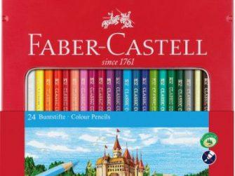 Llapis de colors caixa metàl·lica Faber Castell Castillo -p 24-