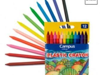 Barres plàstic colors Campus -estoig 12-