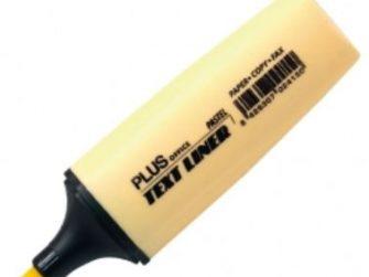 Fluorescent groc pastel Plus Text liner
