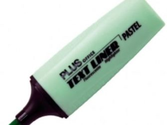 Fluorescent verd pastel Plus Text liner