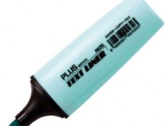 Fluorescent blau pastel Plus Text liner