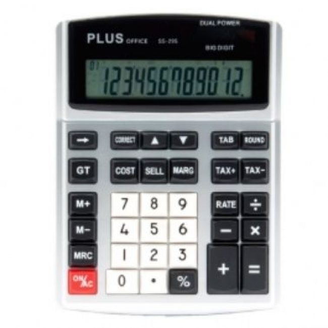 Calculadora 12 digits Plus Office SS-295 Margin