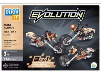 Joc construcció 142 peces Click-it Motos