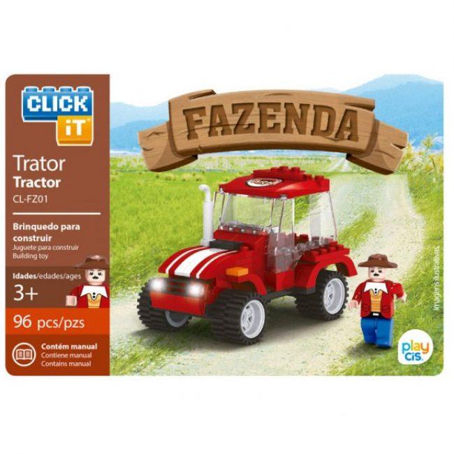 Joc construcció 96 peces Click-it Tractor
