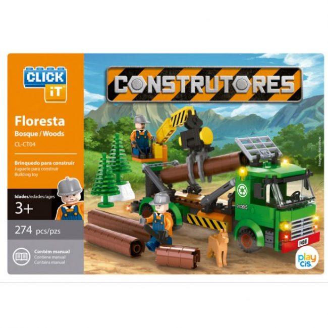Joc construcció 274 peces Click-it Bosc