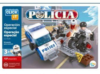 Joc construcció 127 peces Click-it Policia