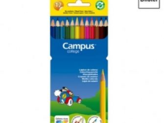 Llapis colors de resina hexagonal Campus -p 12-