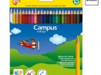 Llapis colors de resina hexagonal Campus -p 24-