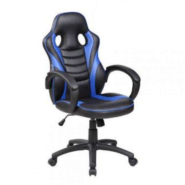 Cadira rodes amb braços blau Rocada RD-913-3 Gaming Student