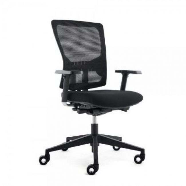 Cadira rodes amb braços negre Rocada RD937V19-4