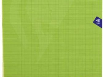 Llibreta grapada PP 24f 90g seyes 24x32 verd Clairefontaine Mimesys