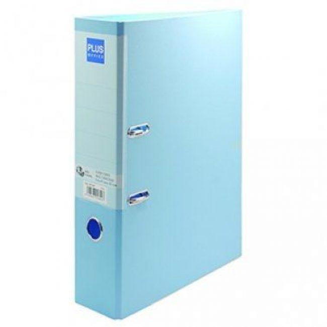 Arxivador palanca foli 2x65 (80mm) amb rado blau pastel Plus 181150