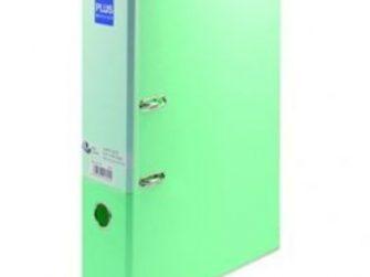 Arxivador palanca foli 2x65 (80mm) amb rado verd pastel Plus 181152
