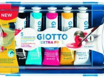 Tempera 5 colors tub 21 ml Giotto 327100