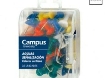 Xinxeta per planos colors assortits Campus 40199 -caixa 35-