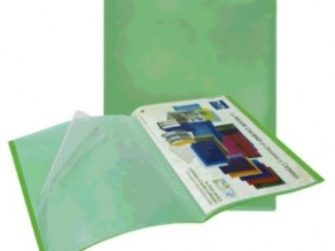 Carpeta 10 fundes fixes A4 verd translúcid Plus 180666