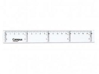 Regla plàstic 20 cm ECO Campus 600029