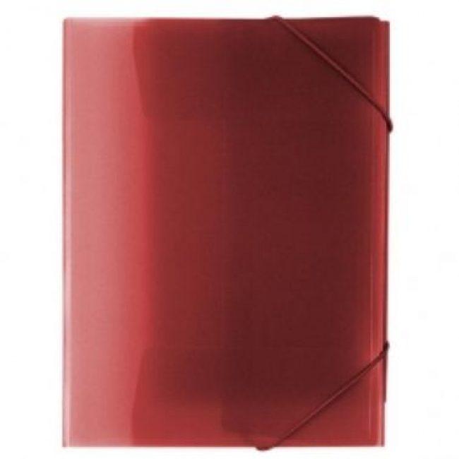 Carpeta gomes polipropile transparent vermell A4 Plus 180534