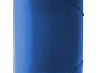 Carpeta gomes polipropile transparent blau A4 Plus 180539