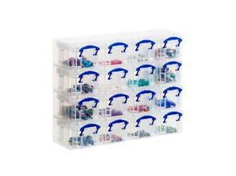 Caixa organitzadora 225x280x90 16 caixes cristal Archivo 2000