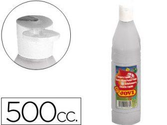 Tempera escolar plata 500 ml Jovi