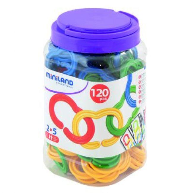 Pot 120 peces per formar cadenes Miniland 31712
