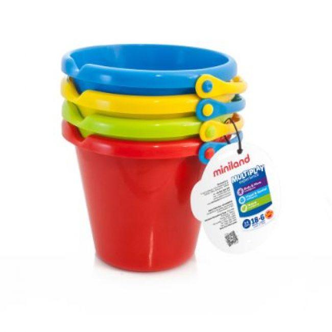 Set de 4 cubells plàstic 19cm Miniland 29005
