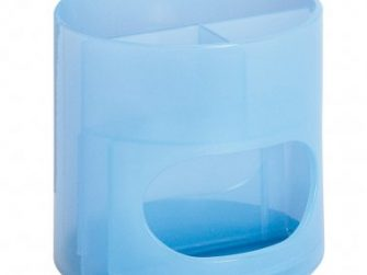 Portallapis plàstic transparent blau 4 departaments Plus 180