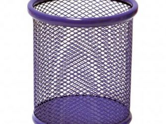 Portallapis metàl·lic perforat violeta Plus 190