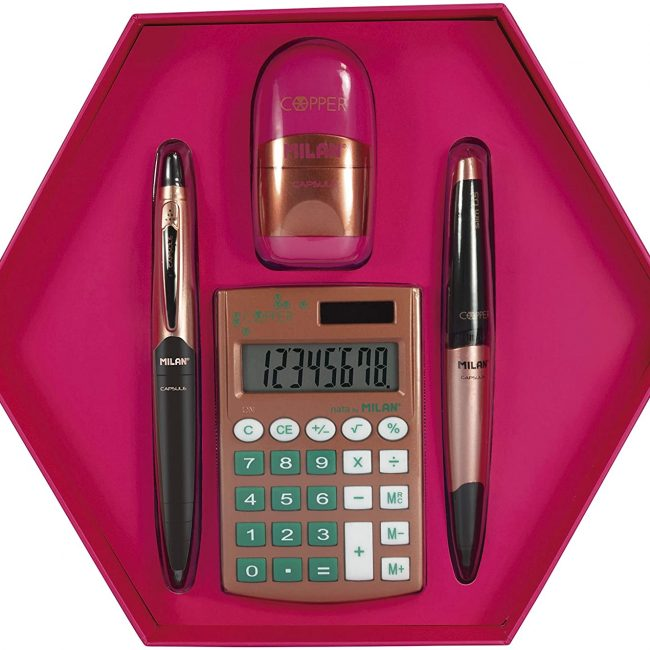 Kit caixa regal hexagonal multicolor Milan Silver 08739