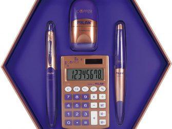 Kit caixa regal hexagonal violeta Milan Silver 08740