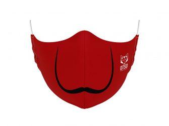 Mascareta talla S/M Moustache Red Otso