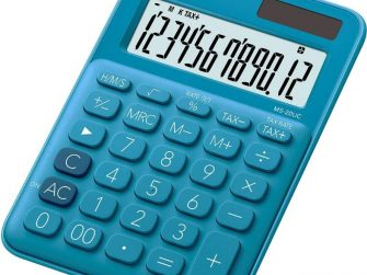 Calculadora 12 digits Casio MS-20UC-BU blava