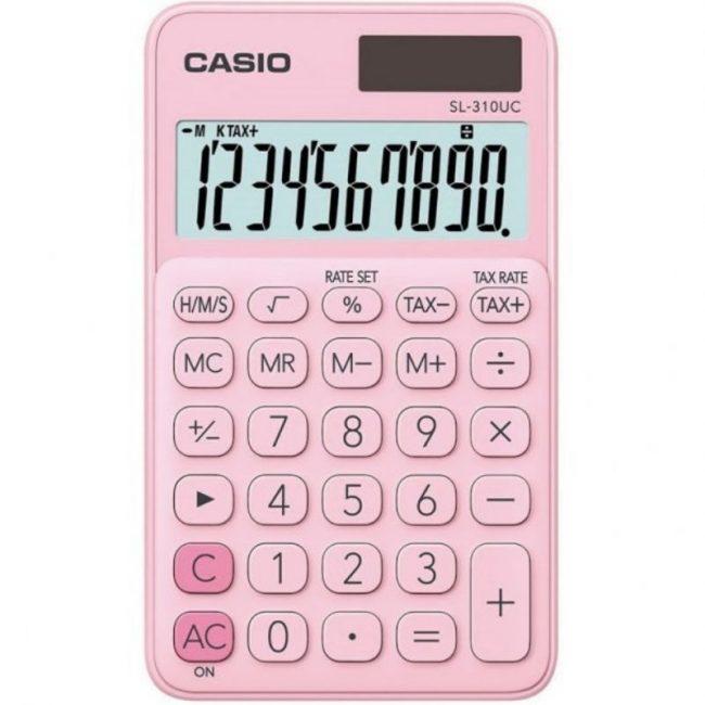 Calculadora 10 digits € Casio SL-310UC rosa