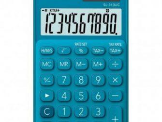 Calculadora 10 digits € Casio SL-310UC blau