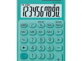 Calculadora 10 digits € Casio SL-310UC verd