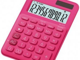 Calculadora 10 digits € Casio MS-20UC-RD fucsia