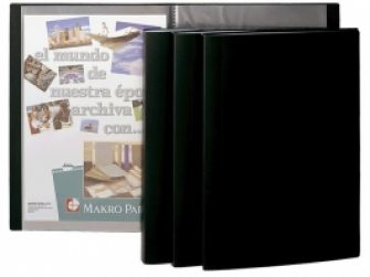 Carpeta 40 fundes fixes A4 negre Plus 180228