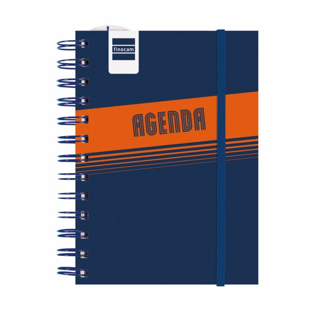 Agenda escolar espiral d/v 120x169 Finocam Mini Institut Blau