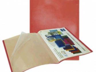 Carpeta 40 fundes fixes A4 vermell translúcid Plus 180865