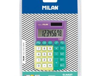 Calculadora 8 digits Milan Sunset turquesa - groc 151008SNYBL