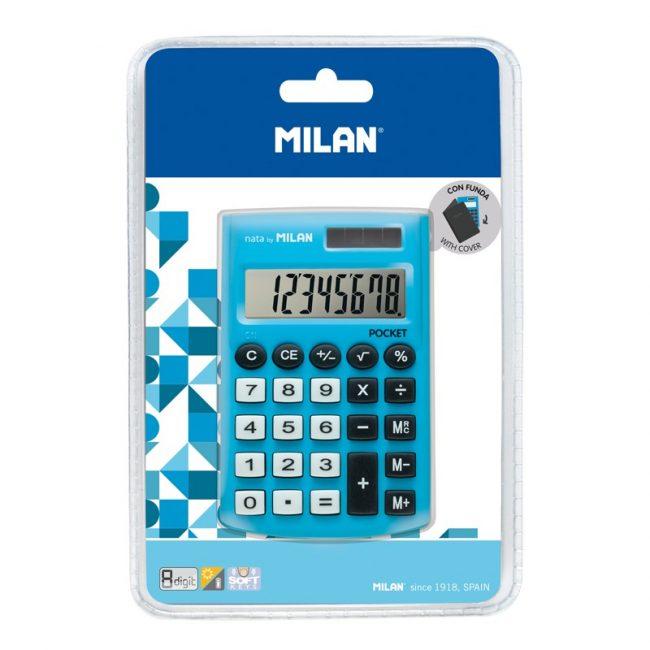 Calculadora 8 digits Milan pocket blava 150908BBL