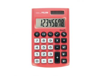 Calculadora 8 digits Milan pocket vermella 159912