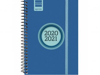 Agenda escolar espiral s/v 120x171 Finocam Espir Label blau
