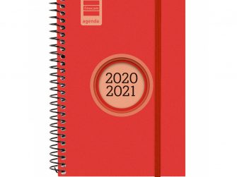 Agenda escolar espiral s/v 120x171 Finocam Espir Label vermell
