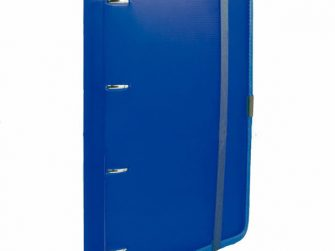 Arxivador A4 4x20 pàstic blau tanca amb goma Plus 181109