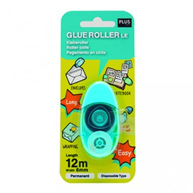 Cola cinta permanent 6mmx12m Plus Roller LE blau