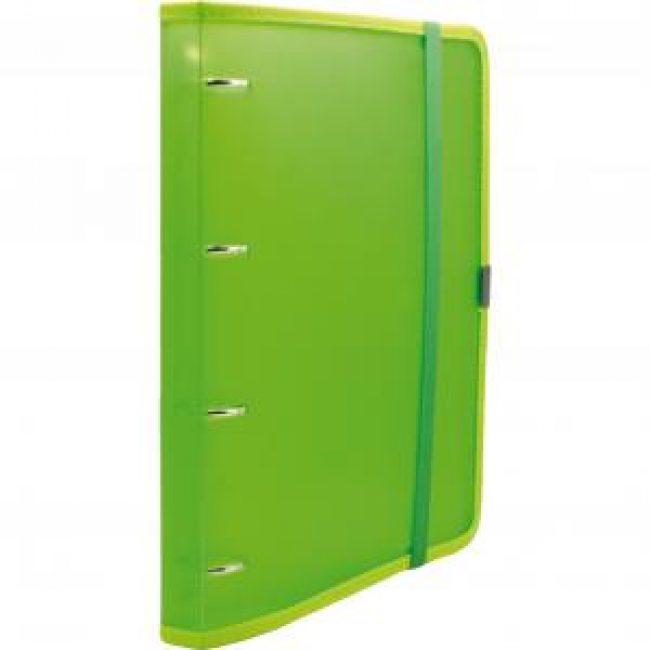 Arxivador A4 4x20 pàstic verd tanca amb goma Plus 181110