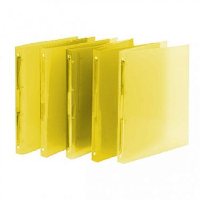 Arxivador A4 4x16 polipropilè groc transparent Plus 181072